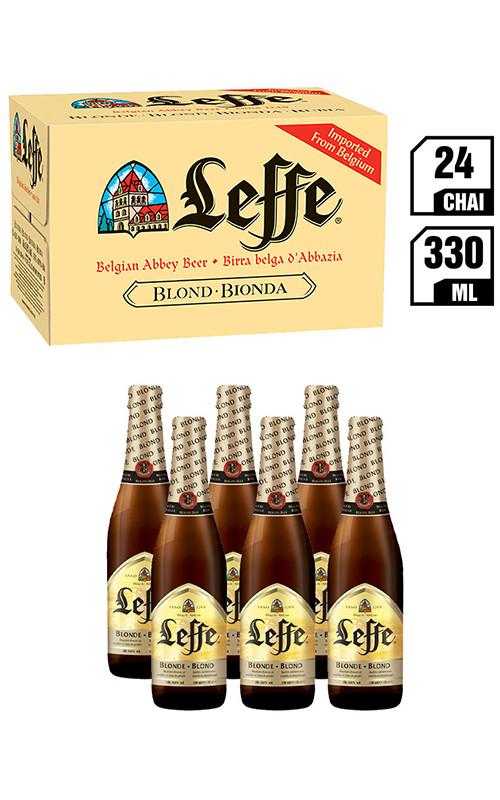 Bia Bỉ Leffe Blonde chai 330ML – Thùng 24