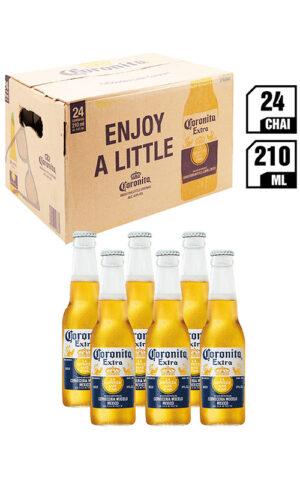 Bia Coronita – Bia Mexico Đặc Biệt Chai 210ML – Thùng 24