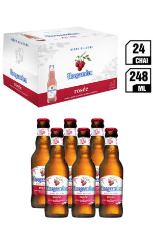 Bia Nhập Khẩu Hoegaarden Rosée Chai 248ML - Thùng 24