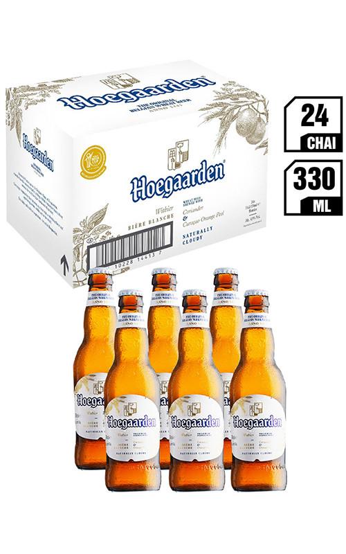 Bia Nhập Khẩu Hoegaarden White Chai 330ML - Thùng 24