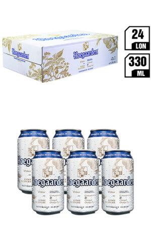 Bia Nhập Khẩu Hoegaarden White Lon 330ML - Thùng 24