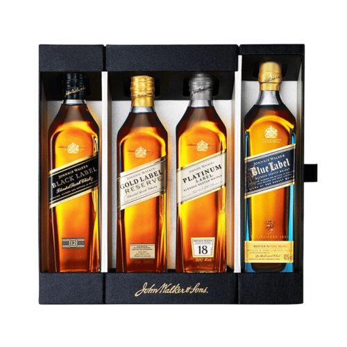 Johnnie Walker Multi Collection (Black, Gold, Platinum, Blue)