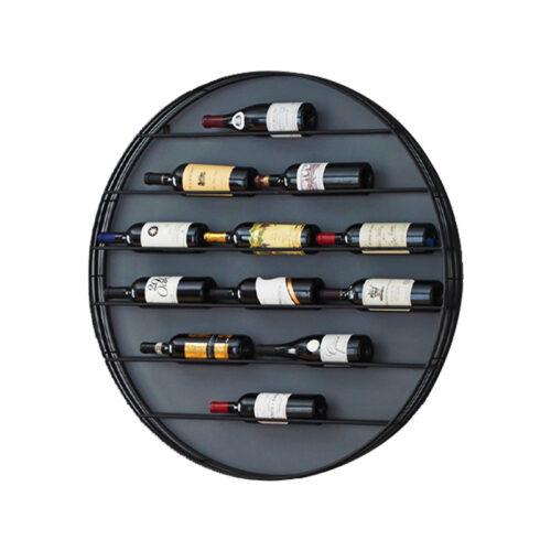 Kệ Rượu Vang Treo Tường Màu Đen