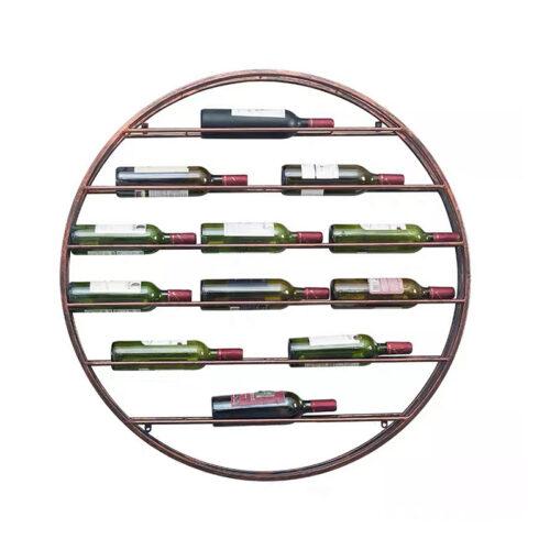Kệ Rượu Vang Treo Tường Màu Nâu