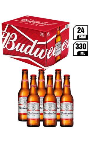 King Of Beer Budweiser Chai 330ML - Thùng 24