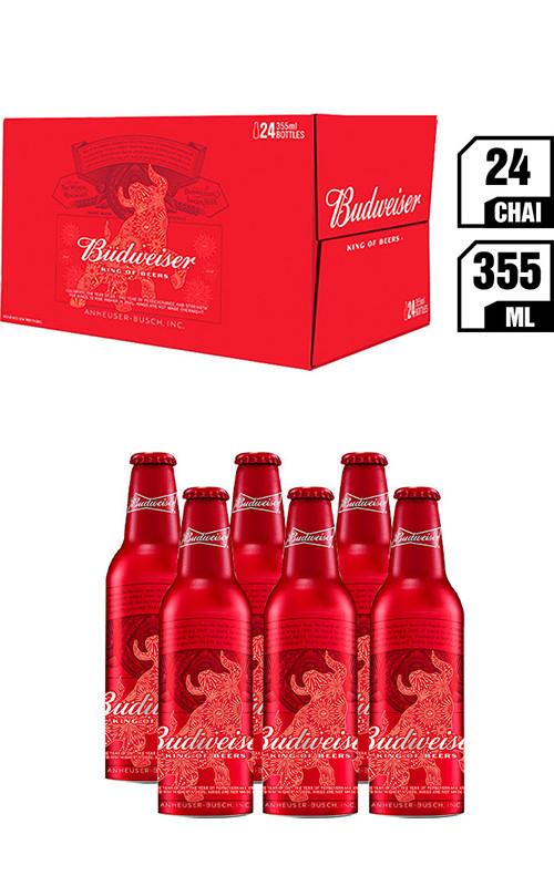 King Of Beer Budweiser Chai 355ML - Thùng 24