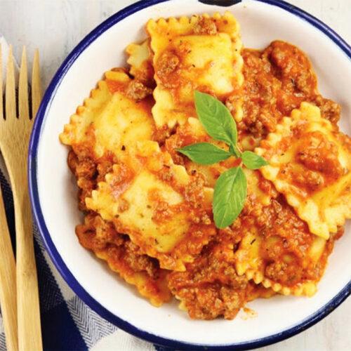 Meat Ravioli With Tomato Sauce