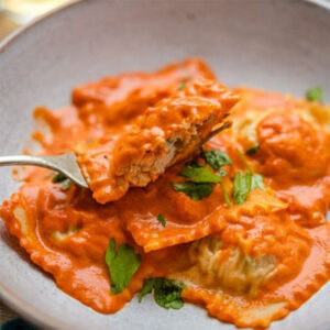Mix Seafood Ravioli With Tomato Sauce