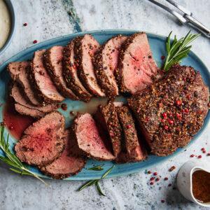 Roasted Tenderloin Beef In Red Wine Sauce