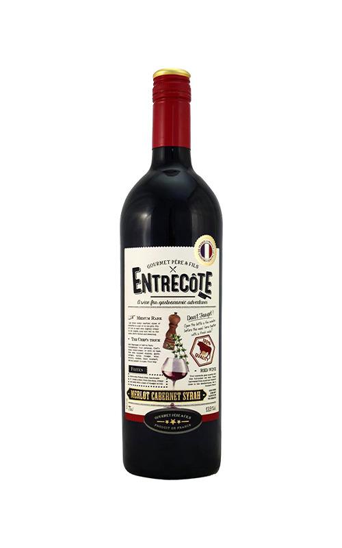 Rượu Vang Gourmet Pere & Fils Entrecote Merlot - Cabernet Sauvignon