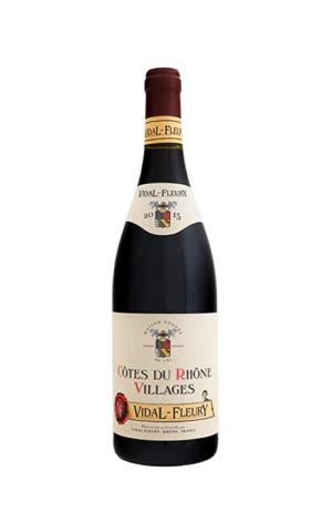 Rượu Vang Pháp Vidal Fleury Cotes Du Rhone Villages Rouge
