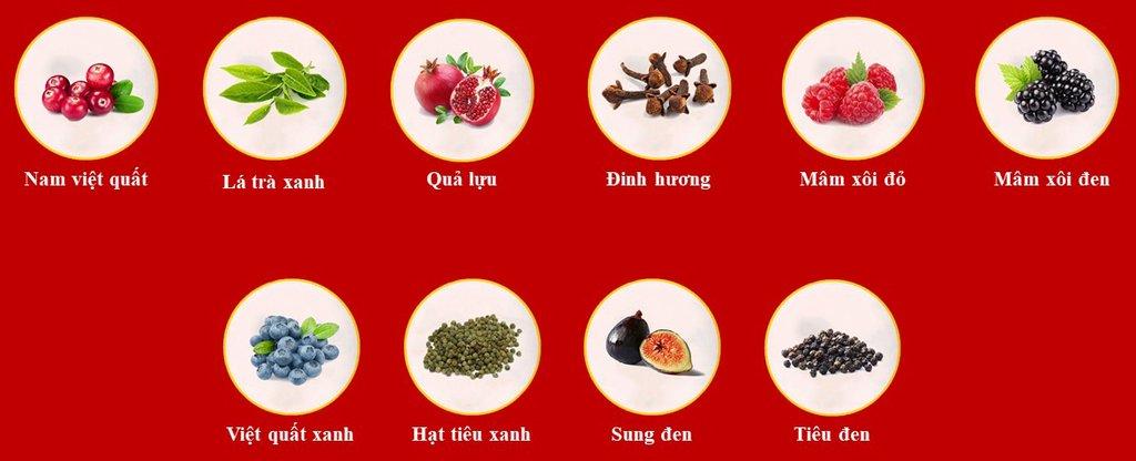Mùi vị của những loại trái cây thường bắt gặp trong vang đỏ.