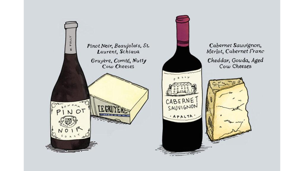 Phô Mai Và Rượu Vang Có Độ Đậm Nhạt Ngang Nhau