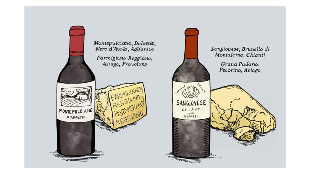 Rượu Vang Đỏ Đậm Và Phô Mai Có Tuổi